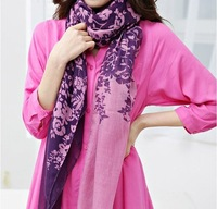 W20 Free shipping wholesale12 pcs/lot hot selling flower scarf  Shawl mix color scarf Elegant ladies scarves fashion shawl