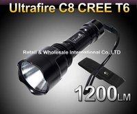UltraFire C8 CREE XML T6  5-Mode 1200 Lumen LED Flashlight Torch+Holster