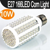 FREE SHIPPING E27 10W 166LED Corn Bulb Lamp Light White 200-230V