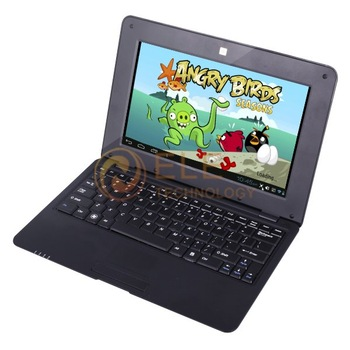 Hot sell 10.1 inch android 4.0 laptop VIA8850 1.2Ghz 512M 4GB HDMI Camera WIFI RJ45