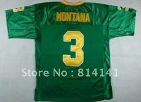 Wholesale-Free Shipping College Jersey Norte Dame Fighting Irish #3 Joe Montana 1977 Green