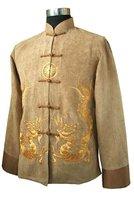 Style Gold Spring Chinese Men's Fleece Kung-fu Jacket Coat S M L XL XXL XXXL M1148