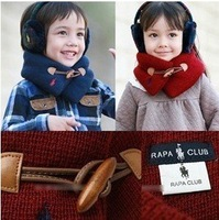 free shipping the newest style hot sale fashion baby/boys/girls/kids'/children's ring button knitted winter scarves/muffler w-12
