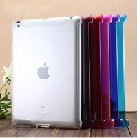 DHL Free Shipping Wholesale High Quality Transparent Clear Crystal Shell Case For ipad2/ipad3 Work With Smart Cover