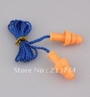 Natural silicon anti-noise earplugs ear Prevent noise earplugs insulation with wire safety hearing protection