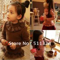 FREE SHIPPING children clothing girl shirts autumn clothes children girl   fashion shirts 2 colors