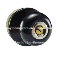 black ceramic knob locks insert door lock wholesale and retail shipping discount 24 sets/lot S-021