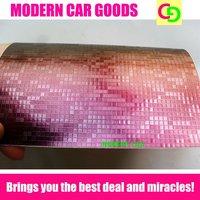 wholesale 152cm x 30m x 0.26mm wine red mosaic chameleon vinyl film car vinyl car wrap colorful car stickers with air drains