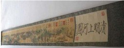 "Song Dynasty scroll painting Historical Records,""Oing Ming Shang He Tu""400cm long free shop(China (Mainland))"