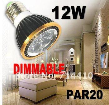 40pcs/lot - Dimmable High Quality LED Light PAR20 12W Spotlight E27 110V 220V Cool White Warm White free shipping