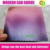 wholesale 152cm x 30m x 0.26mm purple snake skin chameleon vinyl film car vinyl car wrap colorful car stickers with air drains