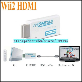Mini Wii2 HDMI Converter for Wii Console (White) Free Shipping SI411