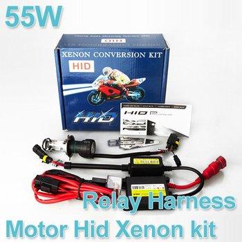 Wholesale Motor/Motorcycle Bike Hid Lights Bi-Xenon Kit H4 (H4-3) Hi/Low Xenon Bulbs 55W 4300K-12000K