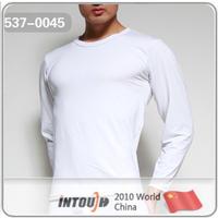 Intouch male t-shirt viscose leugth round neck T-shirt basic underwear 537 male long johns