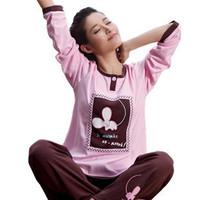 Free Shipping Spring and autumn women's sleep set 100% cotton cartoon MICKEY sleepwear lounge 100% cotton long-sleeve sleepwear