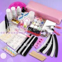 Free Shipping 24 in 1 Nail art Professional Full Set UV Gel manicure Kit