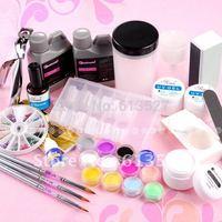 Nail art Gel set + manicure set + Tool Free Shipping