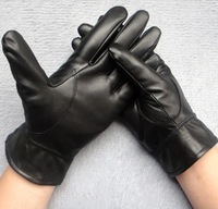 Motor cycle New Police gloves  Black Mens  Genuine Leather Black Gloves