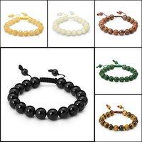 Ladies&Mens 10/12mm Adjustable Aragonite Mala Power Bead Bracelet Fashion Shamballa Jewelry 18x ST018 Free Shipping