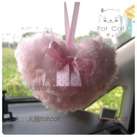 Pink love shape bow rose circle goatswool sachet exhaust pipe toy accessories