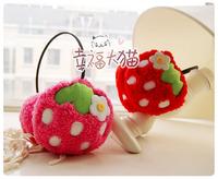 2011 cartoon fruit strawberry plush thermal earmuffs