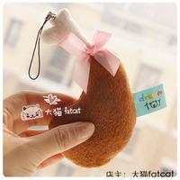 Is jiuwei hu chicken decompression plush phone pendant gift