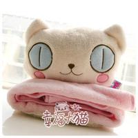 Ts factory cartoon car cushion casual air conditioning wool blanket deformation of dual-use