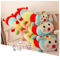 High quality ! double slider colorful caterpillar plush toy doll birthday gift cushion pillow