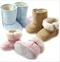 Spring faux chamois baby boots snow boots snow shoes warm boots berber fleece soft outsole boots
