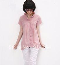 2011 NEW plug size ladies shirt, elegant original brand leisure ladies dress 853(China (Mainland))