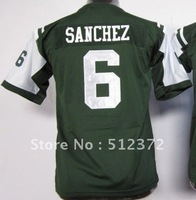 Free Shipping!!! 2012 new style #6 Mark Sanchez Youth Kids jersey green