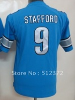 Free Shipping!!! 2012 new style #9 Matthew Stafford youth kids light blue jersey