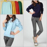 Free Shipping 100% Cotton Fleece 2013 Winter Pullover Long-sleeve Woolen Sweatshirt Plus Size w9
