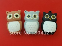 retail genuine 2G 4G 8G 16G 32G usb drive pen drive usb flash drive memory cartoon plastic owl Free shipping