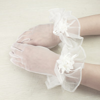 White short design lace bridal gloves married lucy refers to wedding gloves accessories gloves s12006
