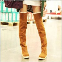 Free Shipping 2013 New Arrival Dibu Leisure Europe Style Winter Flat Boots,Over The Knee Boots For Women
