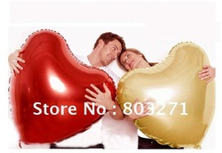Free Shipping-Heart Shape Design Foil Ballon/ Party & Holiday&Lovers Balloon,30'', 10pcs/lot,5colors(China (Mainland))