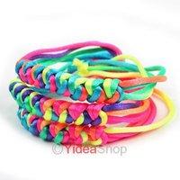 Wholesale - 40pcs Lucky Friendship Bracelets Jewelry Colorful Disco Braid Cords Strands Bracelets 23cm 260608