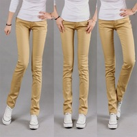 Free Shipping Plus size candy pencil skinny pants jeans legging jeans long trousers 996