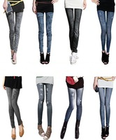 2012 Fashion 8 styles Jeans Looks Women's Skinny Tight Stretchy Leggings Jeans,Ladies Seamless Pencil Jeggings,