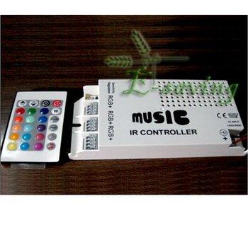 Music sound/audio sensor RGB controller 12v 5A 60w RGB IR controller +free shipping
