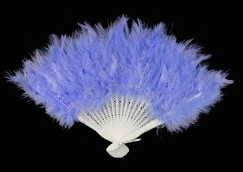 Light Blue feather fans/craft  with 21 folding staves, Free Shipping! Wholesale Price!