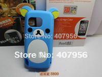 New Design Rilakkuma Lazy Bear Soft Back Case for Nokia 5800 588W,With high quality,1pcs/lot
