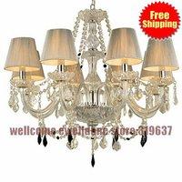 2014 Wrought Iron Chandelier Modern Lights 8 Arms chandelier lights bronze color light vintage rustic Antique lighting