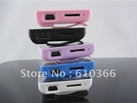 200pcs Newest Mirror Clip Mp3 player no memory no screen With Card Reader function Best Price DHL Free Shipping