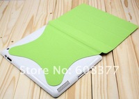 Free shipping 8 colors Auto sleep wake Slim Magnetic Smart Cover leather case protector for new iPad 3 ipad 2