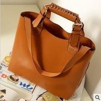 Free shipping ,2012 New  Fashion Ladies' Vintage Celebrity Tote PU Leather Handbag Shopping Shoulder Bag Adjustable Handle