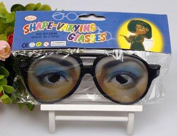 Free shipping 2014 Halloween Decoration Christmas Gift Party Joke Plastic Glasses Women and Men Eye Wacky Funny Glasses