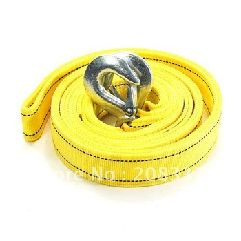 3 Tons Car Tow Cable Towing Strap Rope with Hooks Emergency Heavy Duty 1PC/LOT FREE SHIPPING