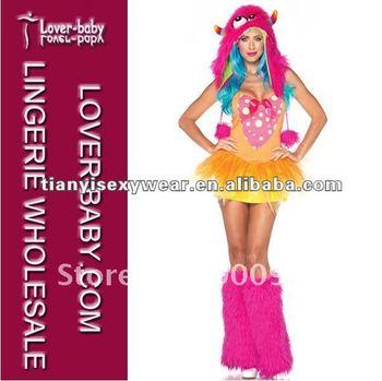 Colorido monstruo fantasía traje de las mujeres atractivas del traje